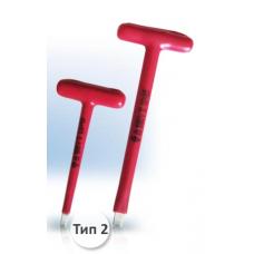 Отвертка Т образная шлицевая 155х1,0х6,5 мм 1000В НИЗ