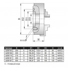 "Патрон токарный 250мм, 3-х кулач., 7100-0035П (К11-250С6) ""GRIFF"""