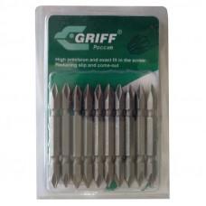 """Бита для отвертки PH1/PH1 двухсторонняя, 1/4 Hex, S2, """"GRIFF"""", упаковка 10шт"""
