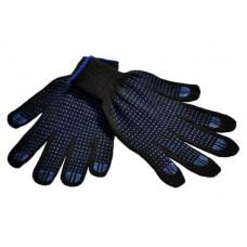 Перчатки п/ш, черные с ПВХ