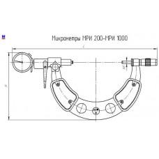 Микрометр рычажный МРИ 1000 0,01 мм с поверкой КировИнструмент