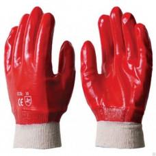 Перчатки облитые ПВХ красные МБС